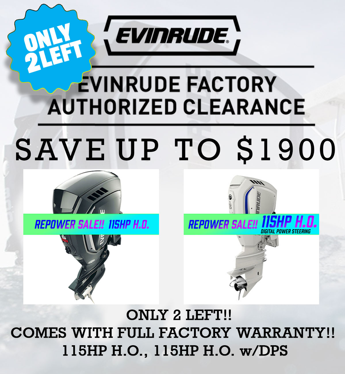 Evinrude Factory Authorized Clearance